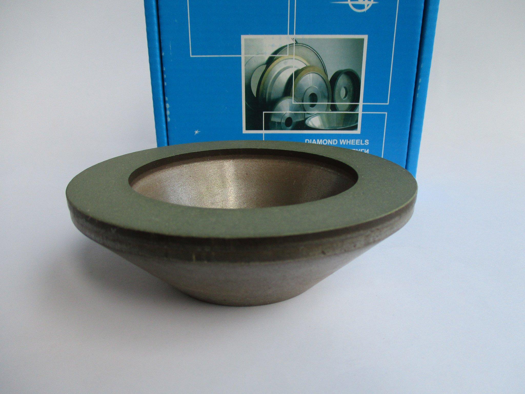 Dia 32mm. Hole 1.26 Type: 12R4 Dish Abrasive Diamond Grinding Wheel 125//100 Micron = 150 Grit 150mm. 6