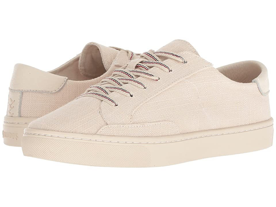 Soludos Ibiza Linen Lace-Up Sneaker (Blush) Women
