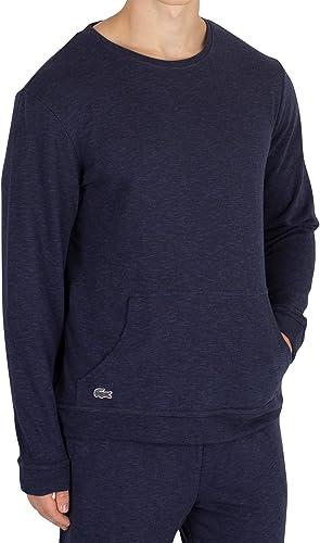 Lacoste Homme Haut de Pyjama à Manches Longues, Bleu