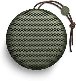 Bang & Olufsen Beoplay A1 Portable Bluetooth Speaker, Wireless Splash and Dust Resistant Speaker with Built-In Microphone, Moss Green