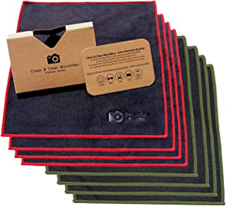 Clean & Clear Microfiber Extra Large [8 Pack] Ultra Premium Quality Lens Cleaning Cloths - Microfiber Cleaning Cloth Camera Lens, Glasses, Screens, Phones