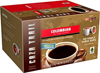 Caza Trail Coffee, Colombian, 100 Single Serve Cups