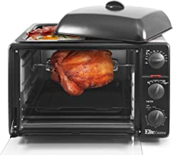 Maxi-Matic ERO-2008S Countertop Toaster Oven with Top Grill & Griddle Rotisserie,..