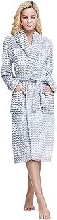 XMASCOMING Women's & Men's Coral Fleece Bath Robe Dressing Gown Housecoat Bathrobe