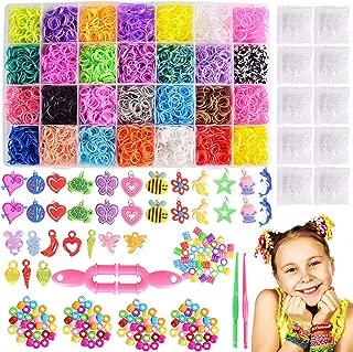 Max Fun 10700+ DIY Rainbow Mega Refill Looms - Rubber Band Bracelet Maker Kit for Kids