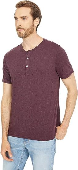 Baseline Short Sleeve Tri-Blend Henley