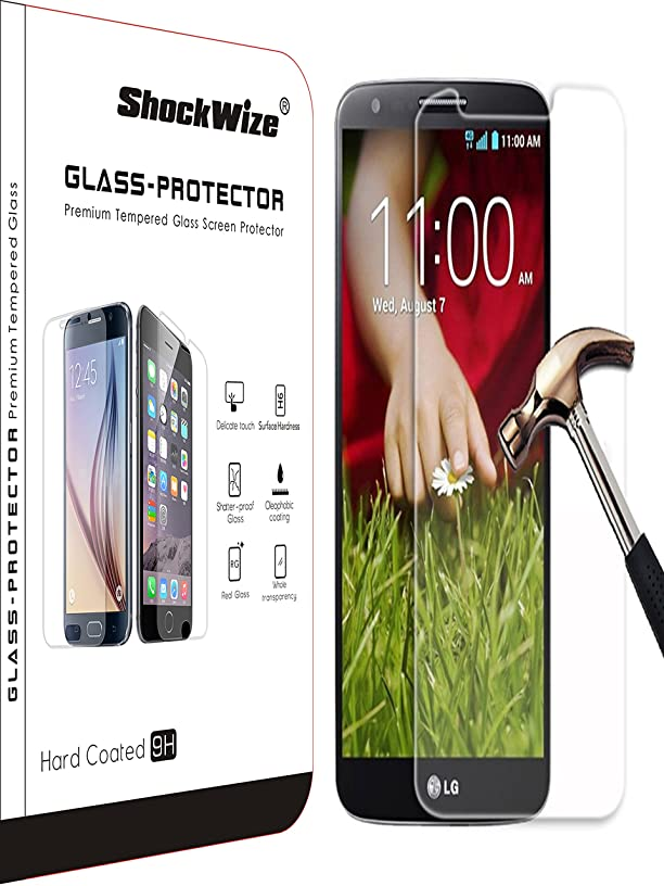 ShockWize [1 Pack] [Tempered Glass] .3mm Thin Ballistic Premium Real Glass Screen for LG G Stylo/Stylus/LS770, Clear