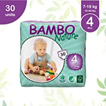 Bambo Nature Premium Baby Diapers - Large Size, 30 Count, for Toddler (10-24 Months) - Super Absorbent and Eco-Friendly
