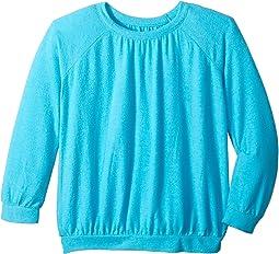 Chaser Kids - Love Knit Long Sleeve Shirred Raglan Pullover (Little Kids/Big Kids)