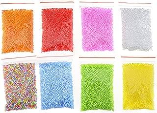 Creative Idear 2-3mm Foam Beads for Slime Styrofoam Foam Ball Assorted Filler Crafts DIY 8 Color Small Tiny Polystyrene DIY Gift 8 Packs