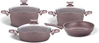 Homemaker Granitec 7 Pcs Cookware Set - Rosegold