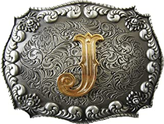 Vintage Double Color Original Initial Letter Belt Buckle Gurtelschnalle
