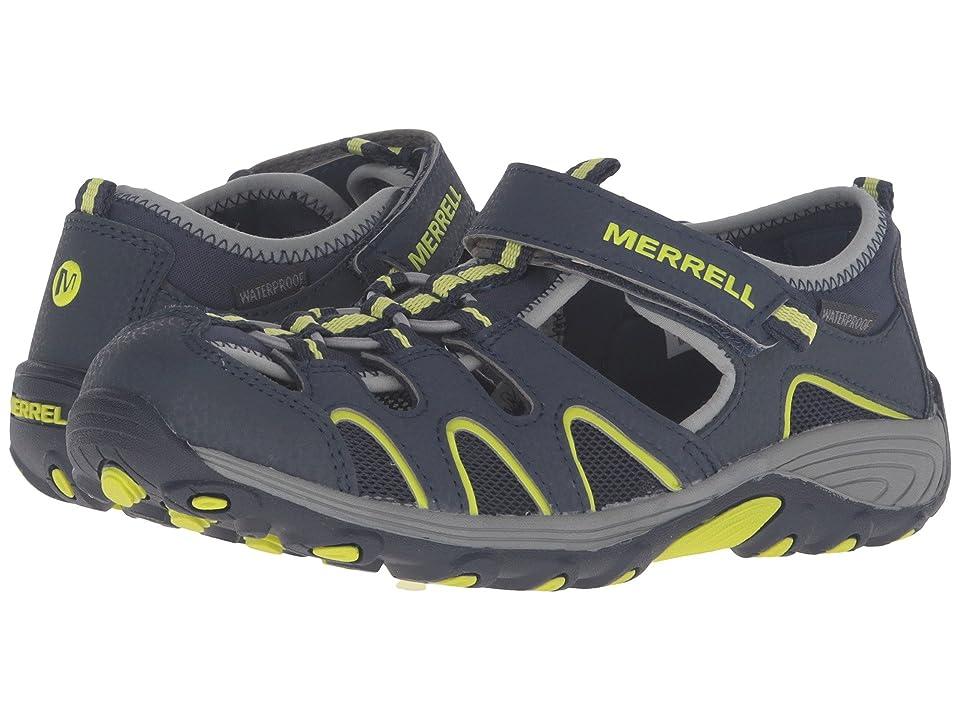 Merrell Kids Hydro H2O Hiker Sandals (Big Kid) (Navy/Lime) Boy