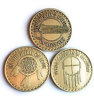 Native American Set of 3 Bronze Medallions Healing Spirit Love Prayer Indian Medallion Chips