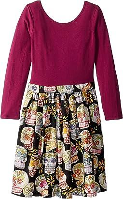 Sugar Skull Abbie Dress (Little Kids/Big Kids)
