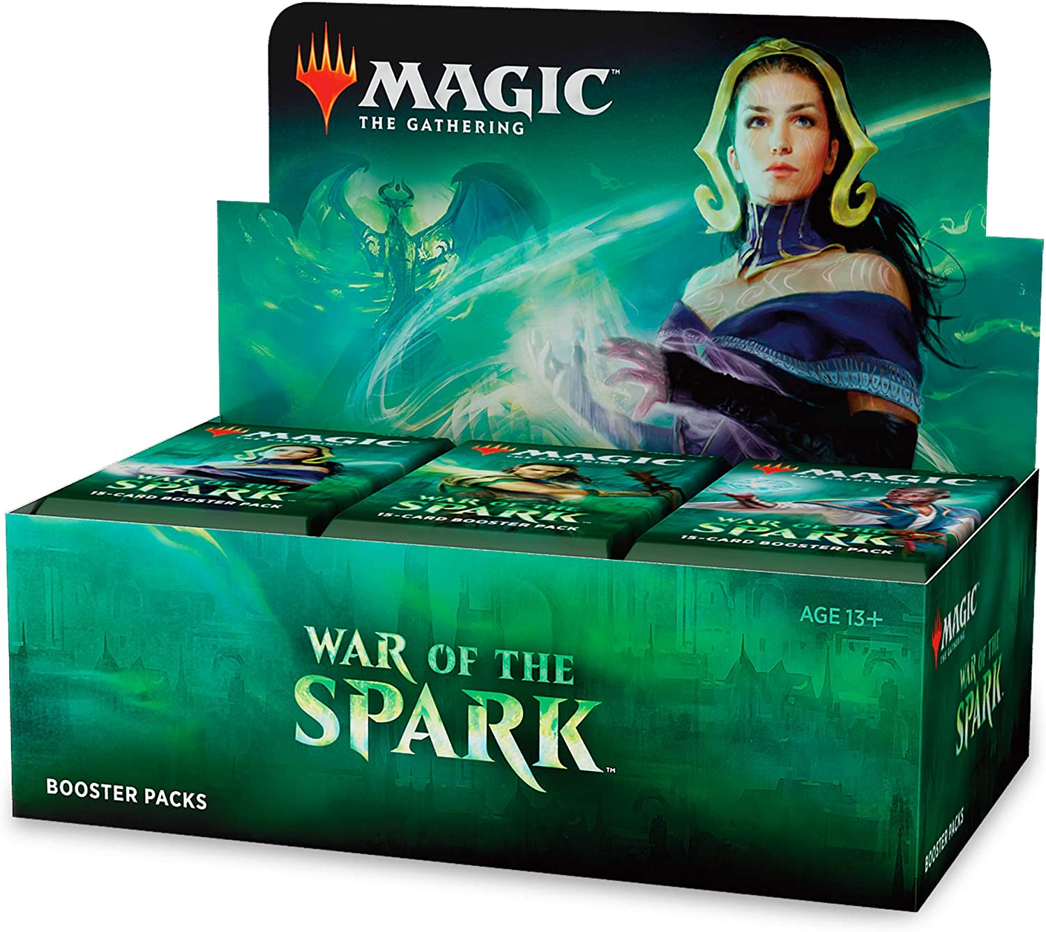 Magic The Gathering C57770000 - War of The Spark-Booster Display mit 36 Packungen