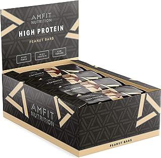 comprar comparacion Marca Amazon - Amfit Nutrition Barra de proteína baja en azúcar (19,5gr proteina, 1,7gr azúcar), Cacahuete, Pack de 12 (12...