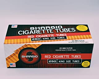 Shargio Cigarette Tubes 250ct Box - Red King Size (4 Boxes)