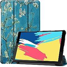Boleyi Tablet Case for Lenovo Tab M8 (FHD), Slim Stand Smart PU Cover Case With Auto Wake/Sleep Function, for Lenovo Tab M8 (FHD) inch Tablet,Apricot flower