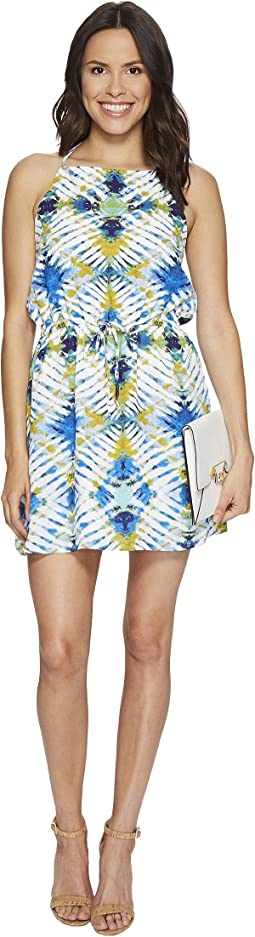 "Peggy ""Desert Oasis"" Printed Poly CDC Halter Dress"
