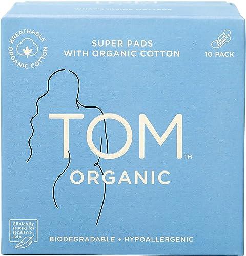 TOM Organic Super Ultra Thin Pads, 10 count