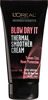 L'Oreal Paris Advanced Hairstyle Blow Dry It Thermal Smoother Cream 5.1 oz, paquete de de 1, Sin color