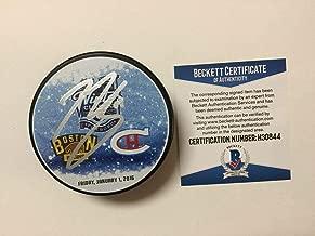 Autographed Brendan Gallagher Puck - 2016 Winter Classic Beckett BAS COA a - Beckett Authentication - Autographed NHL Pucks