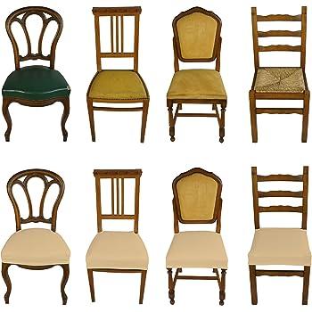 Banzaii 4 Pezzi Coprisedia Universale Senza Schienale Subito Fatto per Sedie da Ufficio, Cucina, Sala da Pranzo, Camera, Hotel o Ristorante in Tessuto