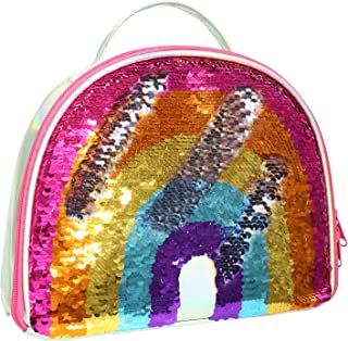 IAMGlobal Insulated Mermaid Lunch Box, Reversible Sequin Lunch Tote Bag, Lunch Box Insulated Lunch Bag For Girls Boy