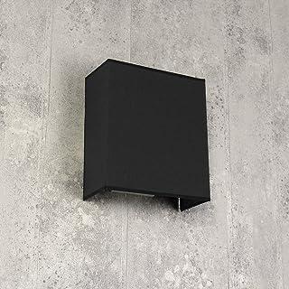 Lámpara de pared Alice Antracita rectangular Loft E27 Diseño moderno Lámpara de pared Dormitorio Sala Pasillo