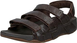 FITFLOP Ethan Croc Print Sandals, Men's Fashion Sandals, Brown (Chocolate Brown), 9 UK (43 EU)