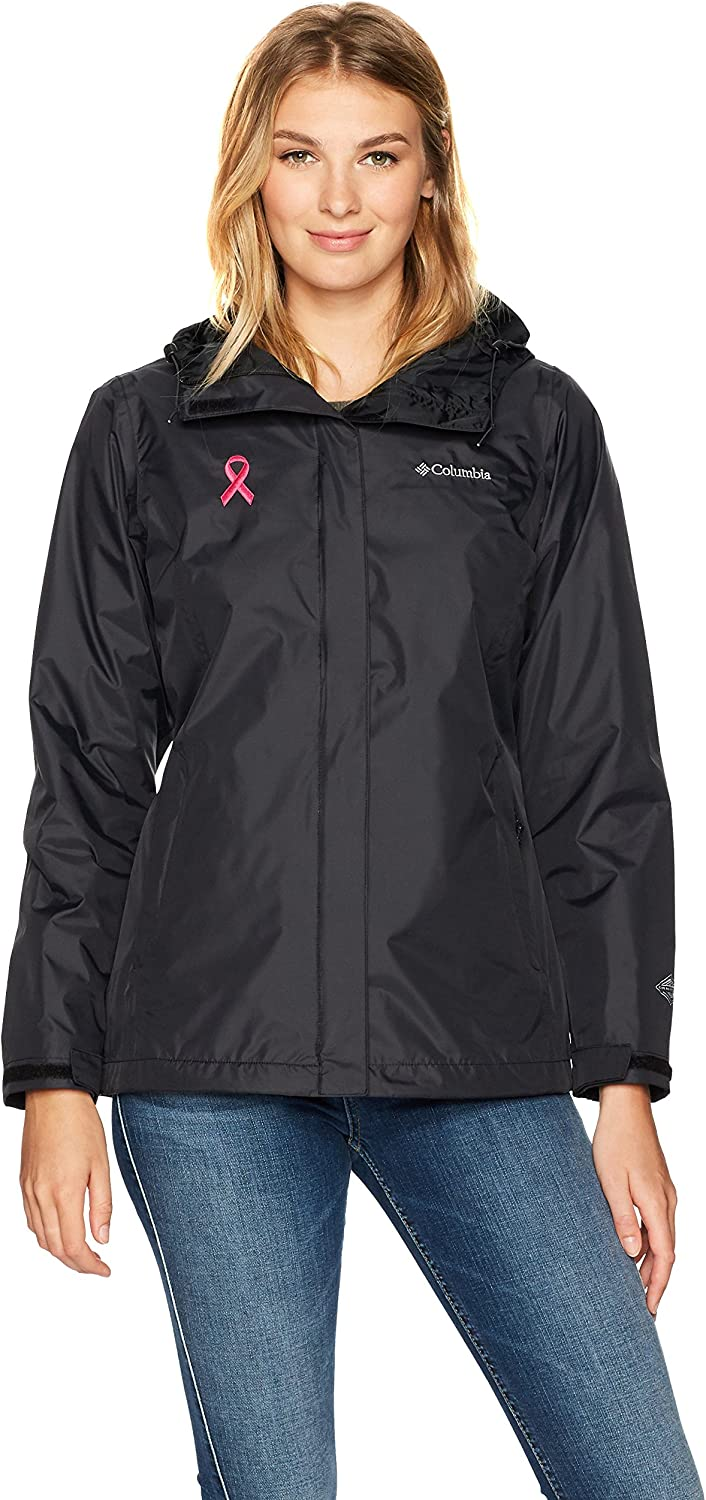 Columbia Womens Tested Tough in Pink Rain Jacket Ii Rain Jacket
