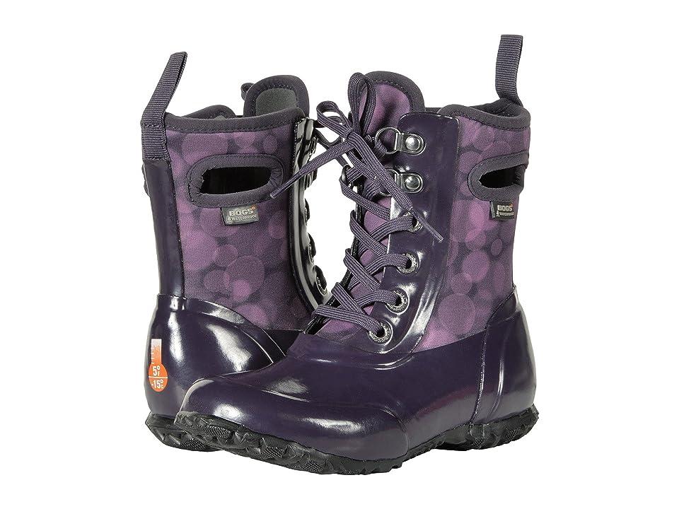 Bogs Kids Sidney Lace Rain (Toddler/Little Kid/Big Kid) (Eggplant Multi) Girls Shoes