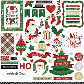 PhotoPlay Collection Card Kit Sticker-Here Comes Santa