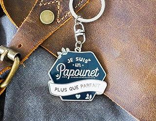 Porte-clés papounet | Je suis un papounet plus que parfait | cadeau pour papa, fête des pères