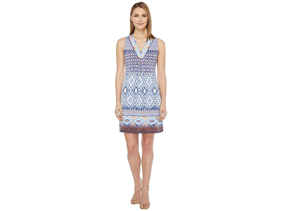 Hale Bob Permanent Vacation Microfiber Jersey Sleeveless Dress (Blue) Women