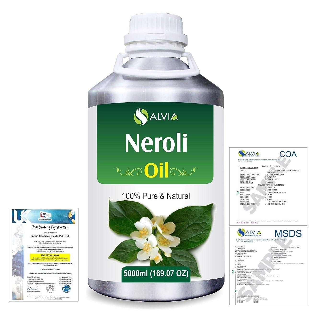 エキス主要な魅了するNeroli (Citrus Aurantium) 100% Natural Pure Essential Oil 5000ml/169fl.oz.