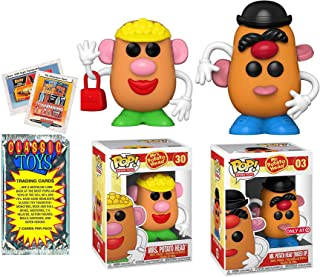 Mr. & Mrs. Potato Head Figure Pop! Bundled with Mixed Up Exclusive Retro Toys + Vintage Trading Cards Pack 3 Items Classic...
