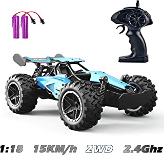 GotechoD Remote Control Car, 1:18 RC Cars for Kids Xmas Gifts 2.4Ghz High Speed Racing Car Rechargeable Electronic Hobby Car Toys for 6,7,8-16 Year Old Boys Girls Adults Gifts Blue