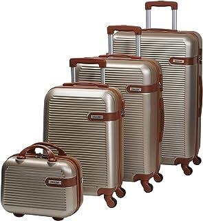 تشاليش حقائب سفر بعجلات للجنسين 4 قطع ، ذهبي