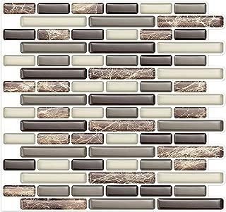 In-The-Dot Self Stick Backsplash Tile Bathroom and Kitchen Wall | Peel and Stick, Stick-On Backsplash Sticker Tile - Anti-Mold Decal –10