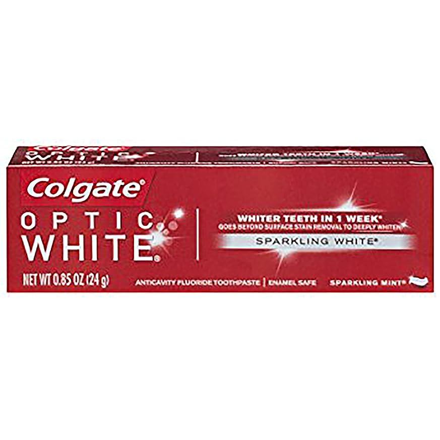 集団的歩く腹コルゲート ホワイトニング Colgate 24g Optic White Sparkling White 白い歯 歯磨き粉 ミント