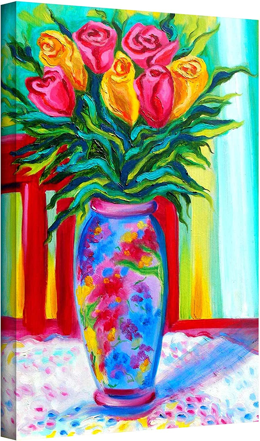 Art Wall I Love This Vase By Susi Franco Gallery Wrapped Canvas Artwork 24 By 16 Inch Prints Posters Prints Amazon Com