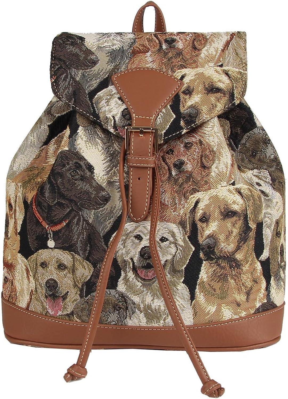 Signare Women's Rucksack Backpack Labrador Dog Design Small Multicoloured