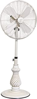 DecoBREEZE Adjustable Height Oscillating Outdoor Pedestal Fan, 18 In, Providence