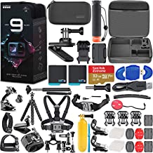 $529 » GoPro HERO9 Black Special Bundle + Hero 9 Action Accessory Kit Includes 2 Batteries, SanDisk Extreme 32GB microSDHC Memory...