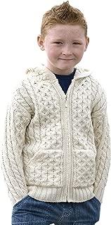 Aran Crafts Hooded Zip Cardigan (100% Merino Wool)