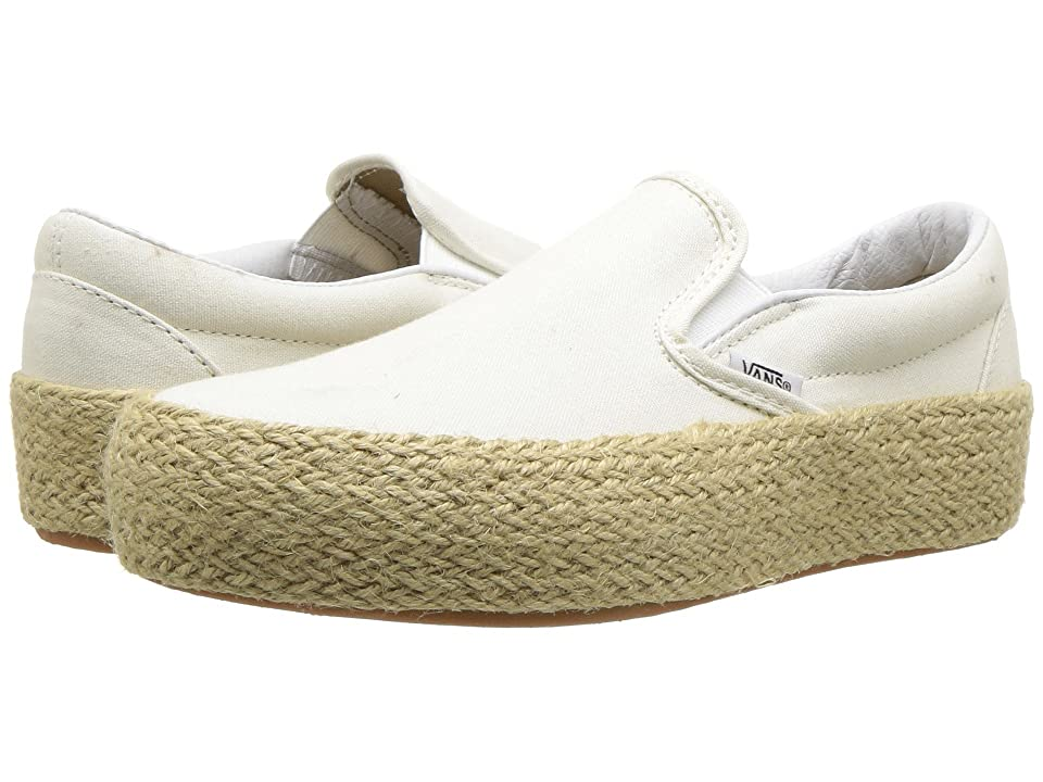 Vans Slip-On Platform SF (Marshmallow) Skate Shoes