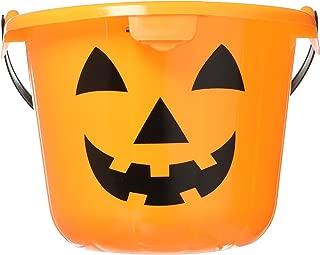 Light Up Halloween Orange Pumpkin Jack O Lantern Trick Or Treat Bucket (1)