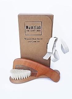 Mumzlab Premium Wooden Baby Brush and Comb Set